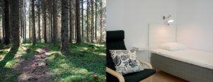 Vandrarhem utanför Umeå
