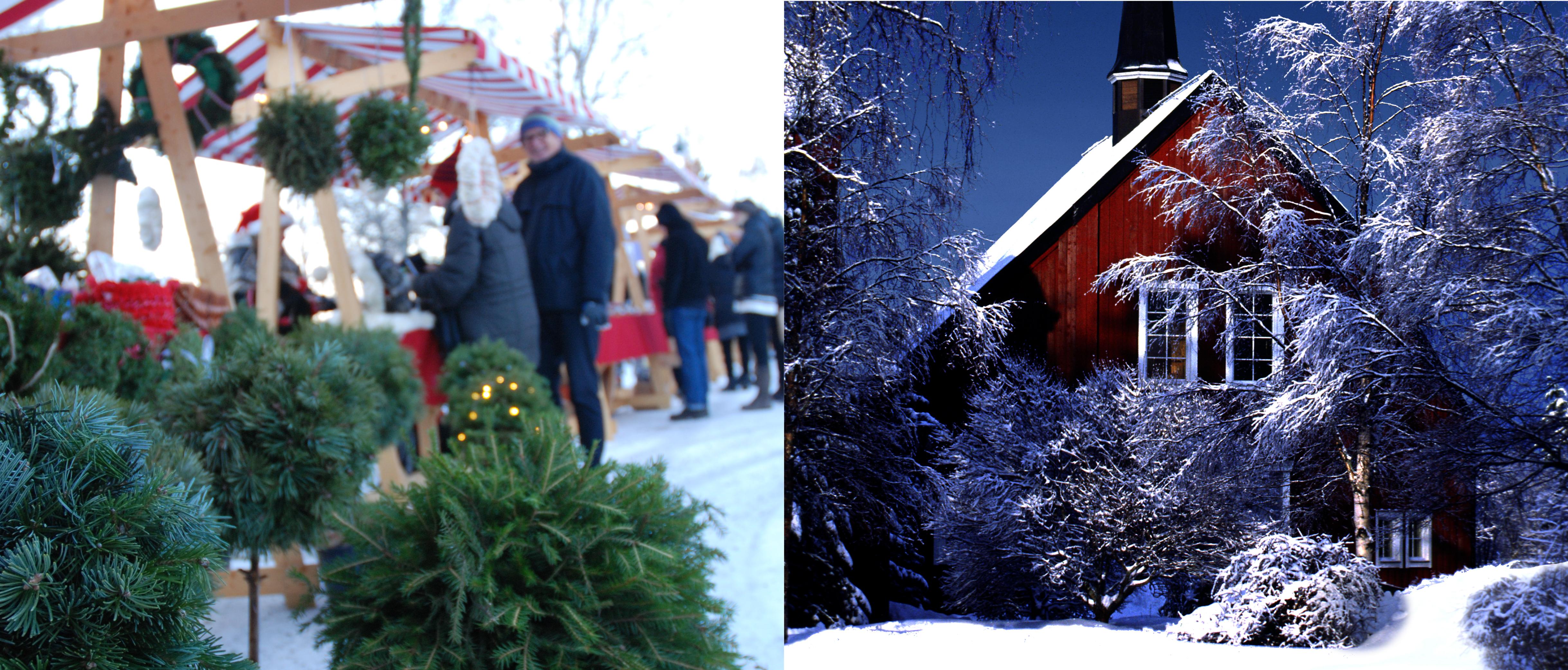 Julmarknad, adventsgudstjänst, grötlunch