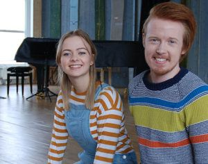 Evelina Hansson och Oskar Berlevik