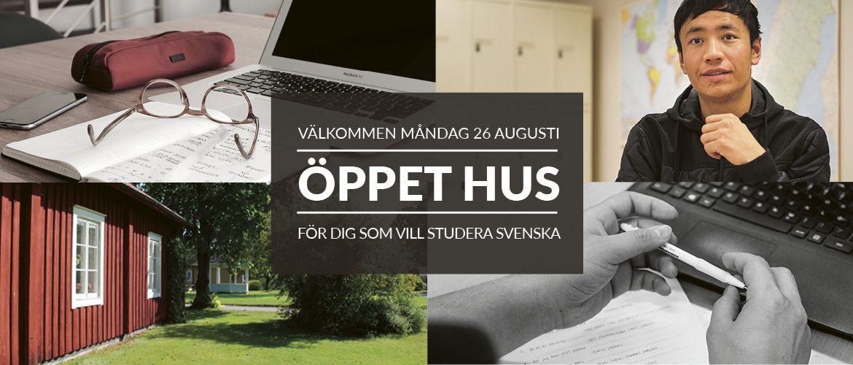 Öppet hus för dig som vill studera svenska
